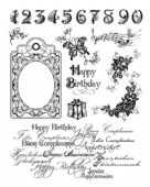 Viva Decor Clear Silicone A5 Stamp Set - Happy Birthday - 4003 017 00